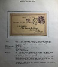 1886 Carnarvon England Postal Stationary Postcard Commercial Cover To Liverpool