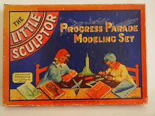 Vintage 1937 Rare Box for Progress Parade Modeling Set Great Artwork NY Toykraft