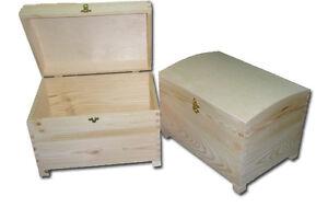 Natural Plain Pirate Treasure Box Wedding Cards Chest Trunk Memorabilia Storage