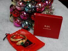Kenneth Jay Lane KJL Jeweled SNAKE Bracelet WATCH ~ Working