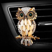 Diamond car vehicle air outlet owl perfume clip freshener diffuser ornament_CH