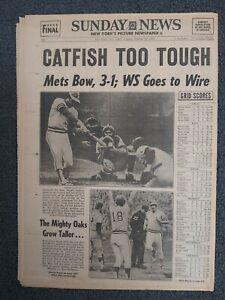 1973 World Series - Mets vs A's - Baseball -NIXON- New York Daily News Newspaper