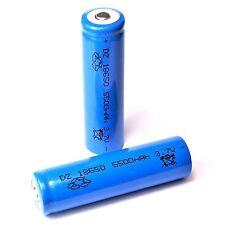 8 x DZ / 5500 mAh  Lithium Ionen Akku 3,7 V / Typ 18650 Li  - ion  blau