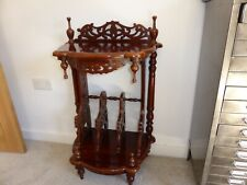 Oriental lamp table / book / magazine stand