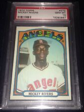 1972 Topps Mickey Rivers #272 PSA 10 Angels RC