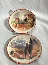 Williams Sonoma Dipping Bowls 5x5 ½ Set of 2 Tuscan Landscape Portugal
