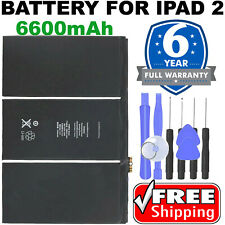 Battery for iPad 2 A1395 A1396 A1397 A1376 6600mAh Lithium Ion 3.8V