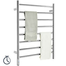 New Listing8-Bar Wall Mounted Towel Warmer Plug-in Towel Rack Stainless Steel w/ Timer