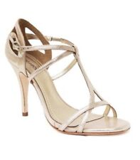 Klub Nico NEW Marlene Champagne Gloss Gold Leather Strappy Heels 36 7 Bridal