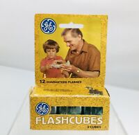 Vintage GE Flashcubes Original Box Set Of 3 Cubes 12 Flashes New Old Stock