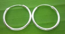 BUY 4 GET 1 FREE - 925 sterling silver (1.5x 20mm) SLEEPERS HOOPS earring UNISEX
