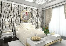 Arthouse Forest Wood White Silver Wallpaper Glitter Birch Tree Branch