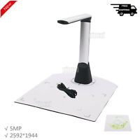 5MP Portable Document Scanner A4 Foldable ID Card Book Scanning Camera 2592*1944