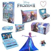 Disney Frozen 2 Elsa Stationary Gift Set Case Chest Pencil Case Stocking Filler
