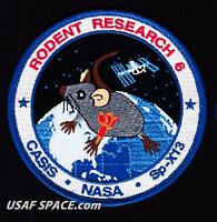 "RODENT RESEARCH 6 -SPACEX DRAGON CRS-13- ISS NASA CASIS 4"" REPRO - Mission PATCH"