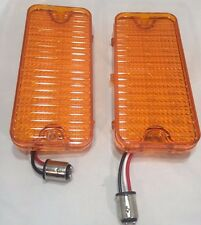 1967 1968 Pair 2 LED C10 Chevrolet Pickup Truck Amber Turn Signal Parking Light