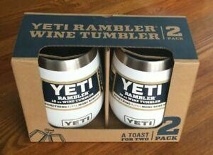 YETI Rambler 10oz Stainless Steel Vacuum Insulated Wine Tumbler, 2 Pack