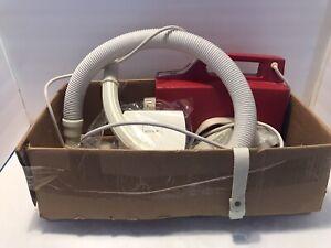 Vintage Buster B. Oreck BB-180 Handheld Vacuum Cleaner Red