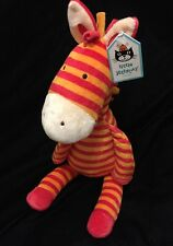 Jellycat Zany Zebra Soft Toy Plush Stuffed Animal Stripe Comforter Orange Red