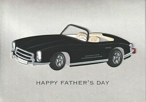 Papyrus Father's Day card - Vintage Black Convertible Car - Classic Cool