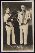 RPPC The Novelty Boys Jimmie and Dick KMOX CBS Autographed 1935