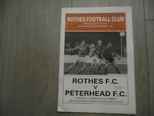 1986-87  Rothes  v Peterhead - Scottish Cup Round 2