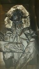 Authentic Spider jacket, real silver fox fur and duck down, size UK10
