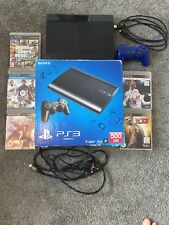 PS3 500GB SUPER SLIM BLACK BUNDLE WITH GAMES (INCLUDING FIFA 18 AND GTA 5)