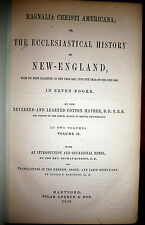 Cotton mather,  Magnalia Christi Americana 1853 New England History, Harvard etc