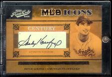 2005 Donruss Prime Cuts MLB Icons Sandy Koufax  Auto #13/32 Los Angeles Dodgers