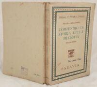 NICOLA ABBAGNANO COMPENDIO DI STORIA DELLA FILOSOFIA VOLUME PRIMO 1947