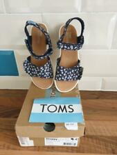 TOMS Girl's Sandals Navy Daisy Floral Canvas child Size UK inf 9 / Euro 27 BNIB