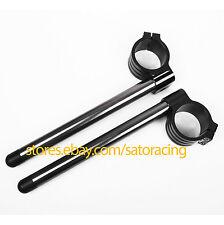 CNC 37mm Clip Ons Fork Handle Bars For HondaCBR250RR Kawasaki Ninja 250R 300