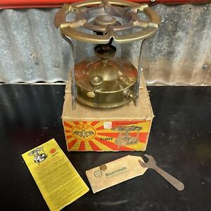 BAT BRAND No.2/607 Vintage Brass Pressure Stove Camp Oven with Box