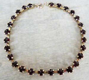 Granat Armband aus 333 / 8 K Gold (gestempelt)