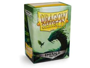 Matte Emerald 100 ct Dragon Shield Sleeves Standard Size SHIPS FREE 10% OFF 2+