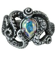 Alchemy of England Gothic Cthulhu Octopus Kraken Tentacles Swarovski Ring R231