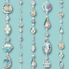 ARTHOUSE CRYSTAL JEWELS TEAL DIAMONDS SPARKLE QUALITY DESIGNER WALLPAPER 670801