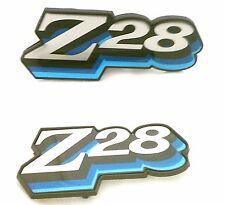 1978 CAMARO Z28 GRILL / FUEL  DOOR EMBLEM COMBO SET! 3 COLOR BLUE 1978 ONLY