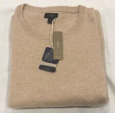 NWT J.Crew Men's Italian cashmere crewneck sweater in Beige size XL $225