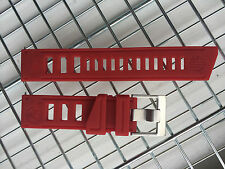 DIVER WATCH STRAP BAND 22MM SILICONE RUBBER RED CUSTOM FIT VOSTOK AMPHIBIAN