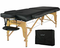 "New BestMassage Black 77""L 3"" Pad Portable Massage Table Facial Bed Spa Chair"