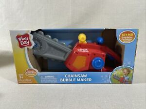 Play Day Red Bubble Chainsaw  Outdoor Pretend Play Toy For Kids Best Gift NEW