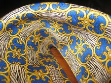 NEW GIANNI VERSACE Silk Tie Royal Blue Yellow Baroque Geometric Spain $500 NWT