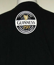 Guinness 250 Anniversary Stout Black Double Sided S/S T-Shirt XL