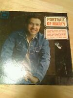 Vintage MARTY ROBBINS Portrait Of Marty Vinyl 1962 Record 12""
