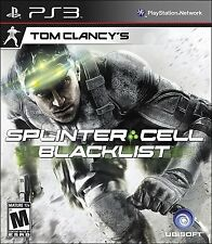 Splinter Cell Blacklist Sony PS3 Playstation 3 game, case, cover, & manual