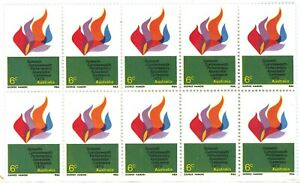 Australia MNH 1970 Block 10x 6c 16th Cwlth Parliamentary Conference Stamps Issue