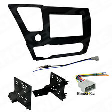 95-7882B Double Din Radio Install Dash Kit & Wires for Civic, Car Stereo Mount