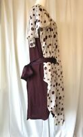 TSUMORI CHISATO: MINT! Burgundy Purple Gold White Ribbon Silk Dress Garçons